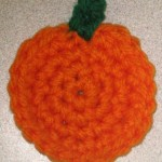 Crocheted Pumpkin Fridgie