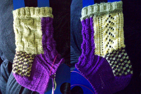 Completed Gusset