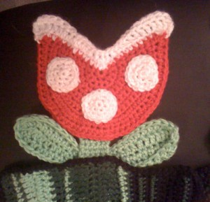 Piranha Plant Scarf Close Up